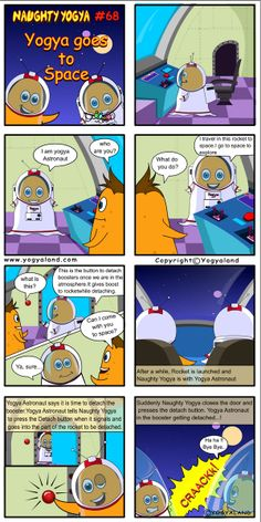 ogya goes to Space | Daily Comics from Yogyaland.com www.yogyaland.com/comic_strip/yogya-goes-to-space Funny Comics For Kids, Comic Strips, Space, Floor Space, Comic Books, Comics, Spaces