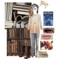 Harry Potter Book Worm by that-awkward-fangirl on Polyvore featuring Joie, Dondup, UGG Australia, Muse, Mr Perswall and Andrew Martin
