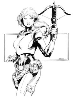 Scarlett by Robert Atkins Black And White Sketches, Black White Art, Comic Books Art, Comic Art, Gi Joe Scarlett, Pop Vinyl Collection, Cobra Commander, Gi Joe Cobra, Psylocke