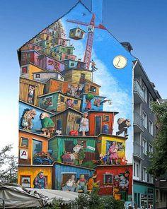Economic Miracle Mural Merowingerstraße 4 40223 Düsseldorf, Germany  Artist: Klaus Klinger  Kübra Sirinyurt