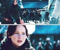 I personally loved this part. It's not just showing her bravery, it shows how much the Hunger Games affected her. She almost WANTS to die. :'( breaks my heart.