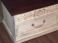 After. Beautifully done with CeCe Caldwell Paint. Its a Lane cedar chest, with a Pottery Barn feel.