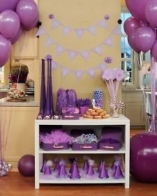 Purple party party-ideas Isabear would love it since her favorite color is purple.