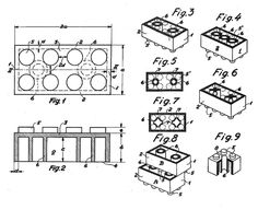 The greatest toy ever made.  Illustration fra Legos patent, 1958 by dkpto, via Flickr