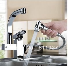 double outlet sink kitchen faucet mixer tap pull out spray torneira cozinha accessories with10 years guarantee for free shipping