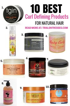 10 Best Curl Defining Products For Natural Hair - Trials N Tresses This is product junkie heaven. If you are struggling with defining your twist outs here are 10 of the best curl defining products for natural hair. Best Natural Hair Products, Natural Hair Tips, Natural Hair Journey, Natural Hair Styles, Products For Curly Hair, Best Curl Products, Natural Hair Regimen, Natural Haircare, Going Natural