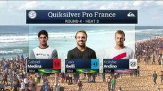 Quiksilver Pro France: Round Four, Heat 3