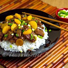 Ginger Beef with Mandarin Oranges This slow-cooker recipe looks & sounds awesome!