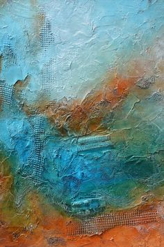 Original pintura abstracta, pintura contemporánea de moho azul, textura pintura abstracta, pintura azul naranja, moho azul pintura, texturas Obra escultórica. Absolutamente magnífico en la vida real. Las fotos no hacen a justicia a él! Por favor vea los detalles. Hermosa pieza