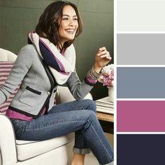 Paleta de colores de invierno
