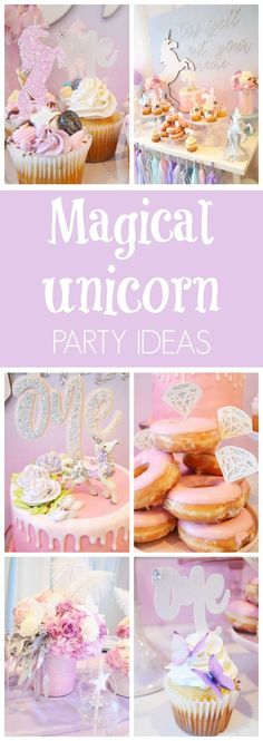 Little girls absolutely love unicorns! This little 1-year-old had the privilege of starting out her love of unicorns early with her very own Magical Unicorn Birthday Party! What a girly affair with to