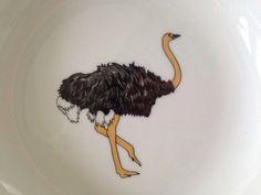 "Limoges France Patricia Deroubaix Porcelain OSTRICH Rimmed Soup Bowl & 6"" Plate | eBay Bowl, Trinket Boxes, Porcelain, France, Plates, Collections, Ebay, Licence Plates, Porcelain Ceramics"