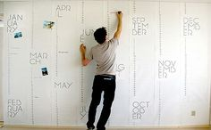 Planner wall - chalkboard paint monthly calendar on an entire wall for kid's school and activities instead?