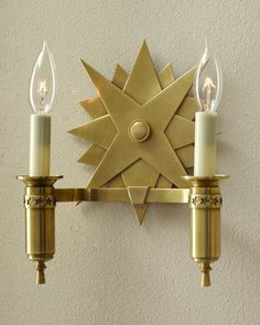 """""""Spark"""" Double Sconce by VISUAL COMFORT at Horchow."""