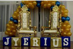 Royal blue and gold baby shower  (Prince Elijah)