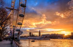 London Eye View wallpaper.