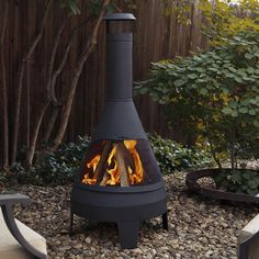 Real Flame Camber Steel Wood Chiminea