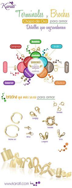 a39de0da1cfd  ChapadeOro Componentes de Calidad para el armado de  Bisutería Fina.   Broche Catálogo en línea www.karati.com