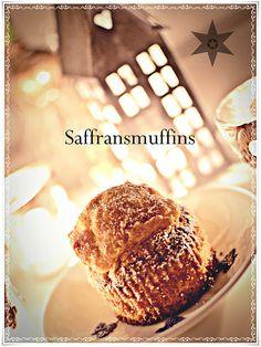 Himmelskt goda saffransmuffins med vit choklad!