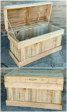 Wonderful DIY Wood Pallet Furniture Ideas and Designs Using the wood pallet material in the home furnishings is the latest trend these days and it is definitely replacing all other. Diy Wood Pallet, Pallet Shelves Diy, Diy Pallet Couch, Pallet Boxes, Wooden Pallet Furniture, Pallet Crafts, Diy Pallet Projects, Woodworking Projects Diy, Wood Pallets