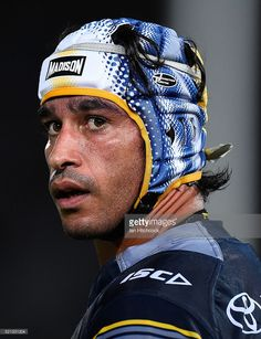 Johnathan Thurston of the Cowboys looks on during the round seven NRL match between the North Queensland Cowboys and the South Sydney Rabbitohs at Stadium on April 2016 in Townsville,. Best Football Players, Rugby Players, Justin Hodges, Johnathan Thurston, Australian Football, Beefy Men, Rugby League, Best Player, My Man