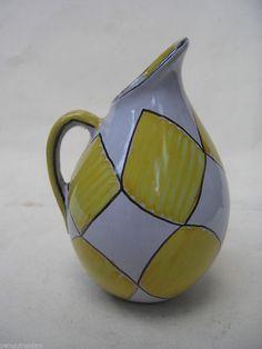West German Vase Fat Lava Retro Vtg Pottery Mid Century U Keramik 50s Yellow