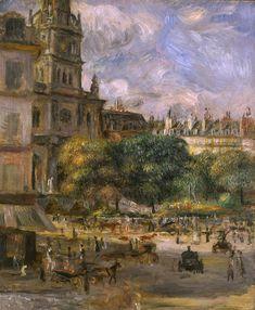Auguste RENOIR《Place de la Trinité, Paris》