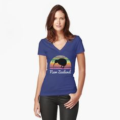 New Zealand Gift. Kiwi Travel Gift. New Zealand travel or holiday souvenir tee shirt are the perfect to wear to the beach surfing or sailing. Perfect gift for someone travelling to New Zealand. My T Shirt, V Neck T Shirt, Gifts For Young Women, Vintage T-shirts, Rudolph The Red, Cute Elephant, Heart Logo, Chiffon Tops, Classic T Shirts