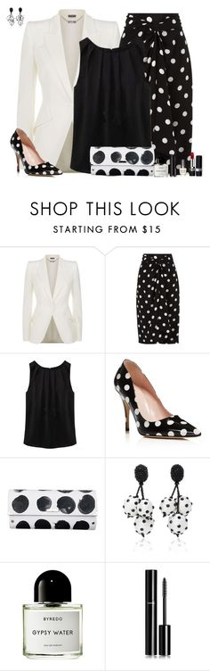 """Set 1891"" by lapshi4ka ❤ liked on Polyvore featuring Alexander McQueen, Andrea Marques, WithChic, Kate Spade, Spanaki, Oscar de la Renta, Byredo, Chanel, Christian Dior and Morgan Taylor"