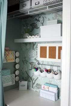 love this little nook- Ikea next week to get the twins art and homework supplies in order!