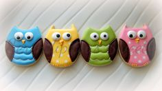 Owl cookies by the very talented Serendipitous Sweets.