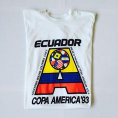 """Box 2 Box Football on Instagram: """"SOLD. Copa America 93' T-shirt. Original vintage clothing. We don't just stock club and international shirts, we also stock vintage pieces like this beauty. You know what to do: www.box2boxfootball.com . #cultkits #box2boxfootball #shop #copamerica #93 #vintage #fashion #design #footballdesign #soccerdesign #footballculture #soccerculture"""""""