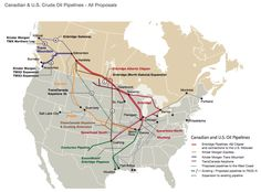 Good Map Of Canada U S Oil Pipelines Canada Us Pipeline Map