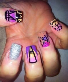 Contemporary twist of colour :) 01614857186 if u need these nails in your life!!