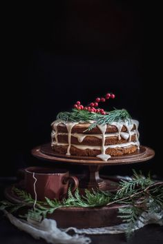 A Christmas Cake | Date & Honey Cake With A Cinnamon Orange Glaze  Adventures in Cooking