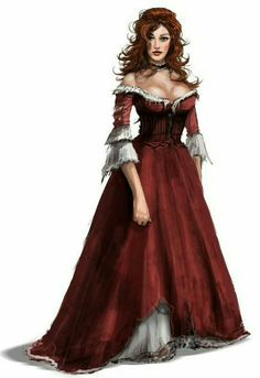 Female Aristocrat - Pathfinder PFRPG DND D&D d20 fantasy