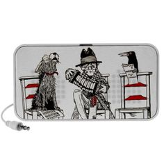 A Concert Party with Dog Crow Old Man Accordion Travel Speaker #art #music #iconographique #accordion