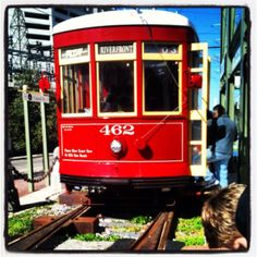 New Orleans Streetcars, the best and prettiest way to get around! Just steps away from The Roosevelt Hotel's front door.
