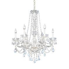 Schonbek Worldwide Lighting Six-Light Crystal Chandelier J- 1303