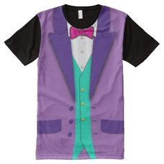 Funky Colors Tuxedo Bowtie and Vest All-Over Print Shirt