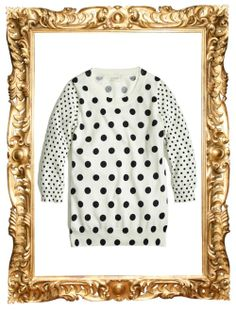 J.Crew Factory Charley Contrast Dot Sweater in Navy/Ivory - $49 (was $74)