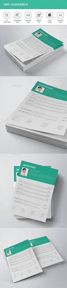 Mono Resume CV + Business Card Resume cv, Business cards and - resume business cards