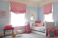 Love the curtains, colors, and pillows
