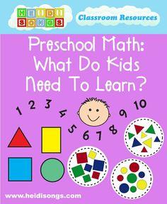 Preschool Math- What Do Kids Need to Learn?