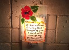 Flower night light If I had a flower.... by cheecheesglass on Etsy
