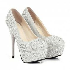 Party Womens Pumps With Solid Color High Heel Stud Design
