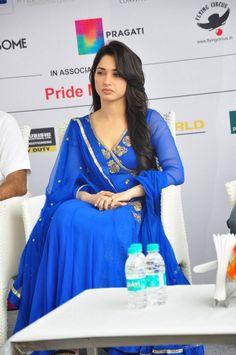 Glamorous Tamannaah Bhatia Hot Photos In Blue Dress