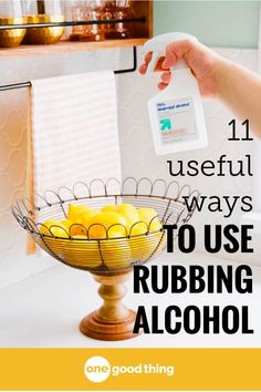 I make sure that I always have a bottle of rubbing alcohol on hand! It's one of the most useful things you can keep around your house, and in this post you'll learn 11 of the very best and most useful ways to put it to good use! #rubbingalcohol #lifehack #helpfultips #helpfuladvice #helpfulinfo #whydidntithinkofthat #tipsandtricks