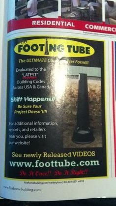 Plastic Footing Tube