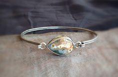 Ocean Jasper Sterling Silver Latch Bracelet by LaurenRolfeJewelry